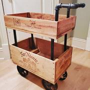 WIne Crate Bar Cart